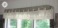 Barn wood and bedskirt valance - Prodigal Pieces