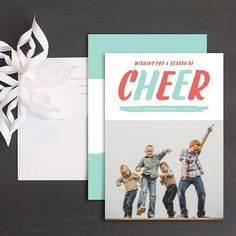 Cheerful Season Holiday Photo Cards by Susan Asbill Christmas Photo Cards, Holiday Cards, Wedding Stationery, Wedding Invitations, Cool Patterns, Bold Colors, Save The Date, Cheer, Seasons
