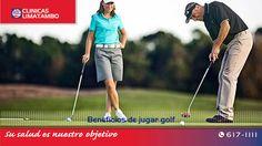 Estar en movimiento es excelente para la salud; por ello, los deportes nos aporta beneficios. El golf es un divertido y relajante deporte que...nuestra recomendación de hoy en nuestro blog. http://blog.clinicalimatambo.pe/2015/09/beneficios-de-jugar-golf.html #ClinicaLimatambo
