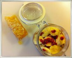 Chocolate chia seed pudding with honey bananas and mashed rasberries. - Culinary Deviant