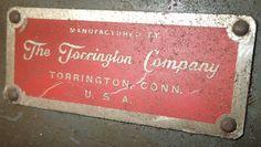 Name plate, Torrington Swager
