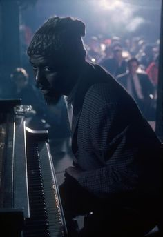 Thelonious Monk performing at the Newport Jazz Festival, 1975.