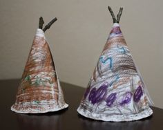 Tepee Craft - - Teepee craft to go along with Native American studies or Thanksgiving activities. Thanksgiving Crafts For Toddlers, Thanksgiving Crafts For Kids, Fall Crafts, Thanksgiving Table, Kindergarten Thanksgiving, November Thanksgiving, Fall Table, Rock Crafts, Thanksgiving Decorations