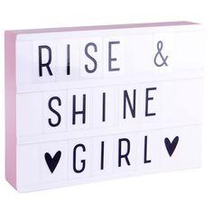 #DIY Letter #Lightbox A4 - roze - A Little Lovely Company #pink #alittlelovelycompany #littlethingz2