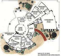 Southwestern House Plan at COOLhouseplan Conceptual Architecture, Architecture Plan, Architecture Student, Architecture Diagrams, Architecture Portfolio, Architectural Floor Plans, Architectural Models, Architectural Drawings, Round House Plans