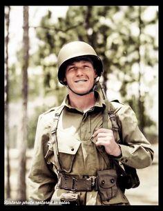 Lt. Dick Winters at 'Camp MacKall' North Carolina, 1943