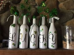 St. Patrick's day bottles handmade by me.