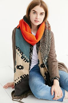 Intarsia Knit Scarf - Urban Outfitters WANT WANT NEED NEED LOVE LOVE WILL GET IT !