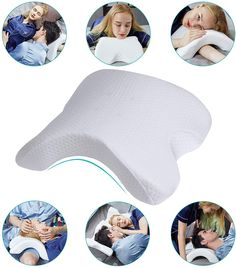 HOMCA Memory Foam Pillow for Sleeping - Slow Rebound Pressure Arched Couple Pillow for Side Sleeper Neck Back Pain Lumbar Support Office Rest Pillow Cuddle Pillow, Pillow Room, Spooning Pillow, U Shaped Pillow, Neck And Back Pain, Neck Pain, Wedge Pillow, Side Sleeper Pillow, Foam Pillows