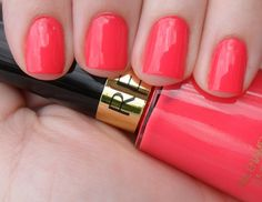 the perfect bright, almost-peachy pink. awesome on short nails! Opi, Essie, Revlon Nail Polish, Butter London, How To Do Nails, Fun Nails, Coral Nails, Spice Things Up, Things To Sell
