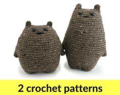 Two bear amigurumi crochet patterns  crochet teddy от hookabee