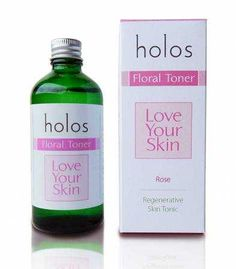 HOLOS Love Your Skin Floral Toner ... This Aromatic floral toner made from recovered steam from the steam distillation of rose petals will gently cleanse and tone the skin encouraging elastic and even skin texture. Rose Toner stimulates regeneration of the skin, reduces inflammation and the visibility of broken capillaries and also calms the effect of acne.