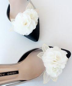 Lace flower Bridal Shoe Clips