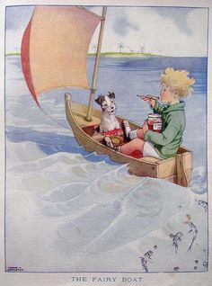 'The Fairy Boat' charming illustration by Honor Charlotte Appleton 1879–1951 #illustration #vintageillustration