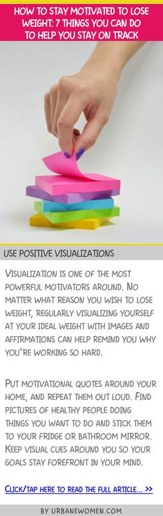 How to stay motivated to lose weight: 7 things you can do to help you get on track - Use positive visualizations