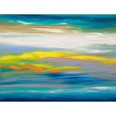 Sunrise 38 is an original, modern art painting from the Sunrise series. This one-of-a-kind painting was created with acrylic paint on gallery-wrapped canvas. It has a width of 40 inches and a height of 30 inches with a depth of 1 inch (30x40x1). The colors used in the painting are blue, teal, white, gray, violet, …