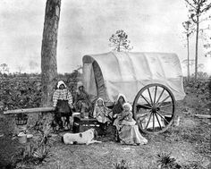 Family living out of a covered wagon 1895..Credit this photo: State Archives of Florida, Florida Memory, http://floridamemory.com/items/show/28795