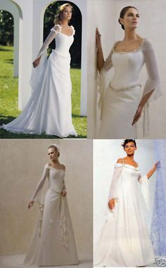 Medieval Wedding Dress Gown Stock Size 6 8 10 12 14 16