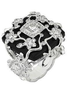 Diamond and black ring