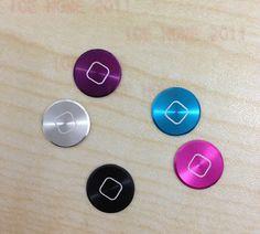 5 PCS Aluminium Metal Home button Sticker For iPhone iPod Touch 4 4G 5 Nano 7   eBay