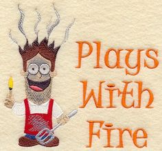 Plays with Fire BBQ Apron for Men - Casualteekids