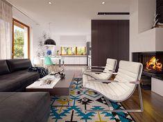 Projekt domu Niko 85,78 m2 - koszt budowy - EXTRADOM Conference Room, Sweet Home, Table, Furniture, Home Decor, Home, House, Homemade Home Decor, House Beautiful