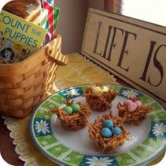 Kids int he Kitchen: Butterscotch Nest Candies at b-inspiredmama.com