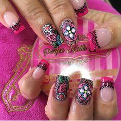 Nails, Beauty, Nail, Fingernail Designs, Mandalas, Finger Nails, Beleza, Ongles, Nail Manicure