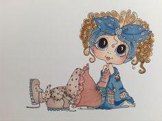 OOAK Card Topper Sherri Baldy Cute as Saturated Canary Image | eBay