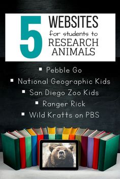 Five of my favorite online websites and databases for students to complete an animal research project! Post includes a description of each website. Science Lessons, Teaching Science, Science Activities, Writing Activities, Teaching Ideas, Science Ideas, Writing Ideas, Primary Teaching, Elementary Teaching