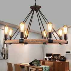 CXYLight Modern Style américain Retro Village Iron Pendant Lighting