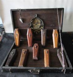 Antique Funeral Director's Set of Coffin Samples