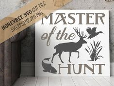 Master of the Hunt svg eps dxf jpg png cut file for Silhouette and Cricut craft machines by HoneybeeSVG on Etsy