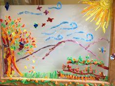 Fall Beeswax Window  - Kindergarten - 2nd graders