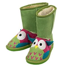 LazyOne Unisex Owl Toasty Toez Slippers Kids 2XS -- See this great product.