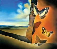 Salvador Dali Landscape with Butterflies painting Free worldwide Shipping - paintingsframe.com