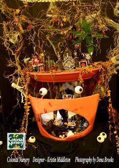 Miniature Scape - Halloween Gnome theme, Fairy Gardens
