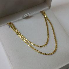 925er Silberkette vergoldet 50 cm Italy SK768 von Schmuckbaron