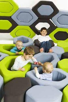 Honeycubes: bloques flexibles para jugar y decorar, de la casa dinamarquesa Superspace