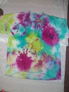 Tie-Dye For A Cause! This sponsor is raising money to visit her child by making tie-dyed shirts.