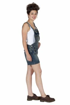 Womens - Dungaree Shorts - Antique Wash - Clearance - limited sizes available £25 #dungarees #shortalls