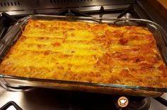 Κανελόνια με κιμά και κρέμα γάλακτος #sintagespareas #kaneloniamekima Orzo, Yams, Lasagna, Summer Time, Macaroni And Cheese, Food And Drink, Pasta, Dishes, Ethnic Recipes
