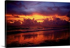 A multi hued sunset over Marco Island, Florida by Raul Touzon, via @greatbigcanvas at GreatBIGCanvas.com.