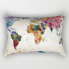 World map blanket map blanket blue blanket map fabric throw buy map rectangular pillow by mark ashkenazi worldwide shipping available at society6 gumiabroncs Images