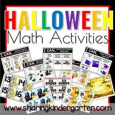Halloween Math Activities - Sharing Kindergarten