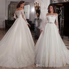 long-sleeves-ball-gown-wedding-dresses-2016