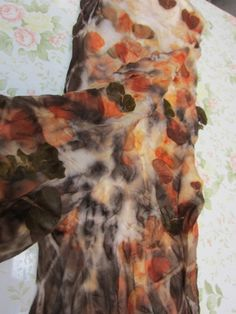 Our guest writer today is Terriea Kwong who has very kindly written a tutorial for us about eco printing onto silk. ******** This is the basic and simple way to do prints on silk chiffon. 1. Materi…