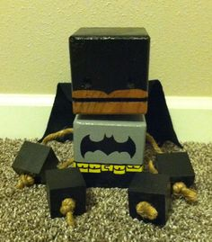 Wood Block Batman