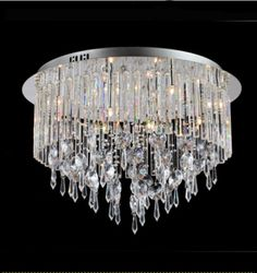 Modern Contemporary Crystal Ceiling Light is perfect choice for bedroom, foyer, living room and more!
