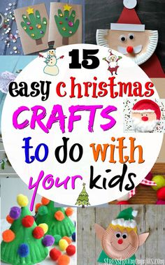 15 easy Christmas crafts to do with your kids Easy christmas crafts to do with your kids. Fun, creative and simple steps craft ideas. A great way to bond and celebrate Christmas! Outdoor Christmas Decorations, Christmas Crafts For Kids, Christmas Activities, Simple Christmas, Crafts For Teens, Crafts To Do, Kids Christmas, Holiday Crafts, Holiday Fun